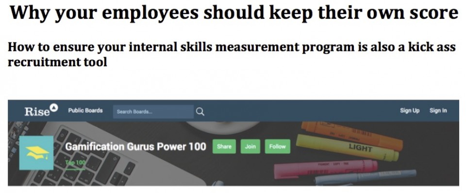 Why employees should keep their own score image